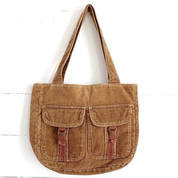 Aeropostale Handbags - Aeropostale Corduroy Shoulder Bag Brown Tote